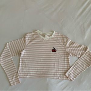 Striped pink and white long sleeve!!
